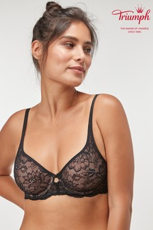 Triumph® Black Amourette Charm Wired Bra