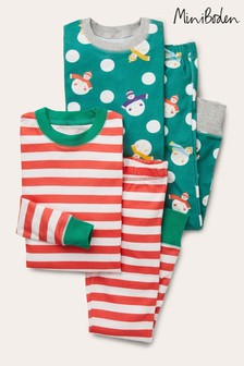 Boden Green Cosy Twin Pack Long Pyjamas