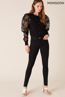 Monsoon Black Nadine Sparkle Leg Jeans