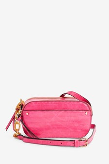 Pink Structured Across-Body Bag