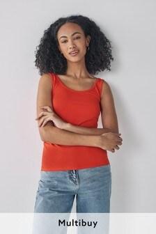 Orange Thick Strap Vest