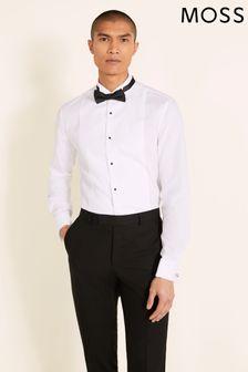 Moss 1851 White Marcella Regular Collar Slim Fit Dress Shirt