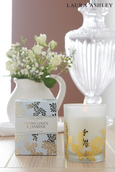 Laura Ashley Fresh Linen Candle
