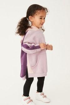 Purple Colourblock Hoodie (3mths-7yrs)
