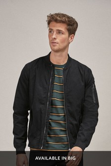Black MA1 Cotton Bomber Jacket