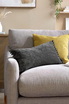 Soft Velour Pom Edge Cushion