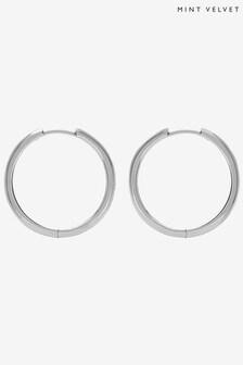 Mint Velvet Silver Plated Hoop Earrings
