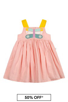 Stella McCartney Kids Baby Girls Pink Cotton Dress