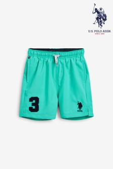 U.S. Polo Assn. Green Player 3 Swim Shorts