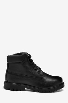 Black Leather Work Boots (Older)