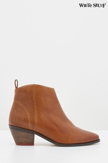 White Stuff Tan Winnie Suede Mid Ankle Boots