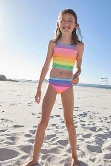 Rainbow Stripe Bikini (3-16yrs)