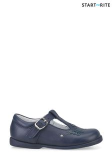 Start-Rite Sunshine Navy Leather Shoes