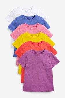 Multi 6 Pack Bright T-Shirts (3-16yrs)