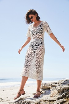 Ecru Crochet Dress