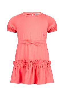 فستان بيبي بناتي وردي منEmporio Armani