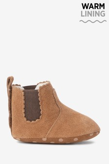Tan Leather Chelsea Baby Boots (0-18mths)