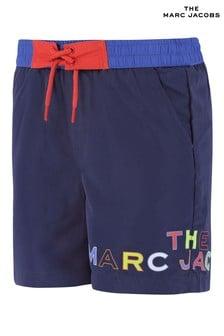 Navy The Marc Jacobs Navy Multicoloured Logo Swim Shorts