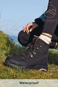 Black Performance Waterproof Active Hiker Boots
