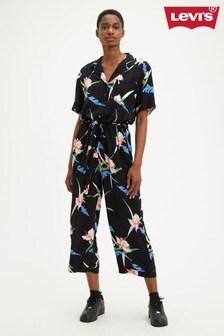 Levi's® Black Tropical Floral Jumpsuit