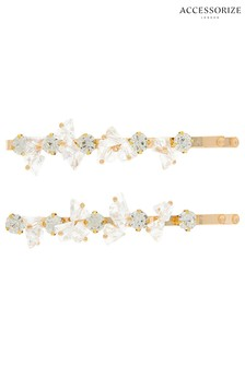 Accessorize Crystal Hair Slides