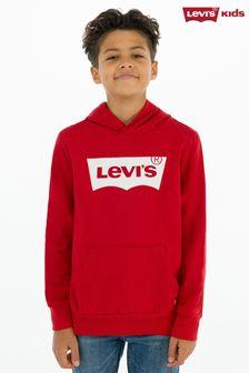 Levi's® Kids Red Batwing Screenprint Hoody