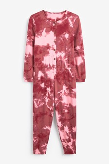 Berry Tie Dye Jersey All-In-One (3-16yrs)