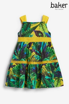 Baker by Ted Baker Tropical Tiered Dress