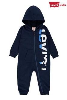 Levi's® Kids Navy Levis Infant Zip Through Babygrow