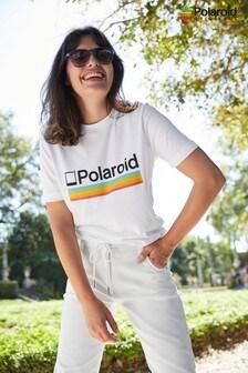White Polaroid Licence Crew Neck T-Shirt
