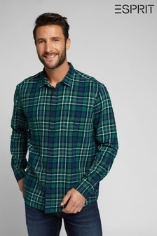 Esprit Green Mens Check Shirt