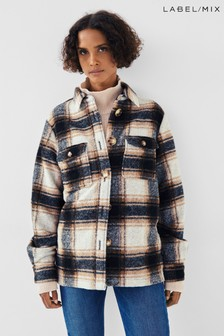 Second Female Amber Check Shirt Jacket