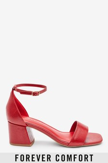 Red Regular/Wide Fit Forever Comfort® Simple Block Heel Sandals