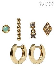 Oliver Bonas Rebel Mixed Stud & Hoop Earrings