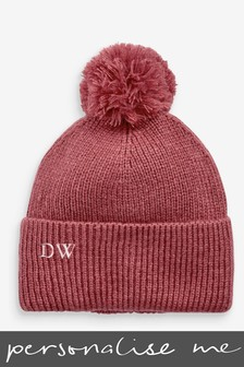 Personalised Embroidered Knitted Pom Hat