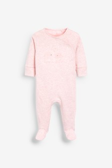 Pink Born In 2020 Sleepsuit (0-9mths)