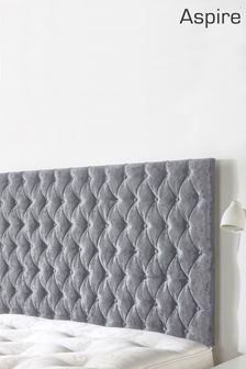 Velvet Silver Windermere Headboard by Aspire Furniture