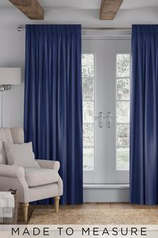 Eloise Indigo Blue Made To Measure Curtains