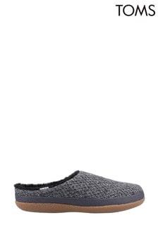 Toms Black Ivy Slippers