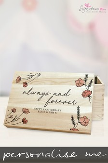 Personalised Always & Forever Memory Box by Signature Gifts