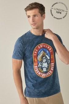 Navy Stormtrooper Beer Licence T-Shirt
