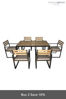Cast Aluminium 6 Seater Dining Set by Charles Bentley
