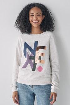 Oatmeal Logo Graphic Sweatshirt