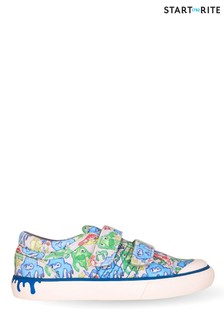 Start-Rite Slime Grey/Multi Monster Canvas Shoes