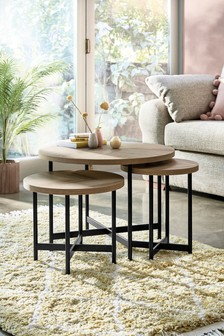 Barton Coffee Nest of 3 Tables