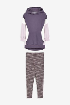 Purple Colourblock 2 Piece Sports Set (3-16yrs)