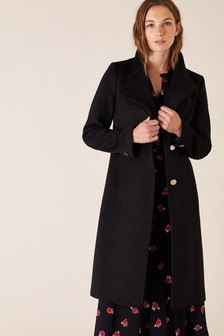 Monsoon Black Ruby Workwear Long Coat