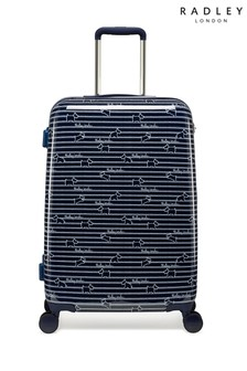 Radley Dog Stripe Medium Hard Shell Suitcase