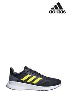 adidas Run Navy/Yellow Run Falcon Trainers