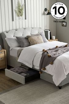 Wool Blend Grey Hartford Two Drawer Bed